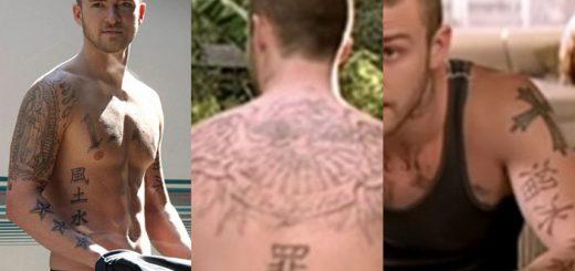justin timberlake Kanji tattoos